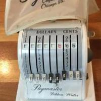 Paymaster checkwriter for sale in Niagara Falls NY by Garage Sale Showcase member Bongo211, posted 10/03/2018