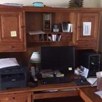 Desk with hutch for sale in Mazon IL by Garage Sale Showcase member drw713, posted 06/13/2018