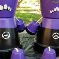 Purple minion clay pot people set of 2 for sale in Lubbock TX by Garage Sale Showcase member Kwill74, posted 09/23/2018