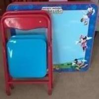 Mickey Mouse Folding Table and Chairs for sale in Stanwood IA by Garage Sale Showcase member da.hughes1954@gmail.com, posted 07/06/2018