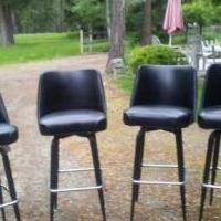 4 black swivel bar stools for sale in Thompson Falls MT by Garage Sale Showcase member slcooper, posted 07/27/2018