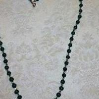 Hand craft semi-precious gemstone Malachite necklace for sale in Spring TX by Garage Sale Showcase member johnbanker, posted 05/09/2018