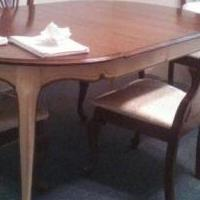 Driano Cherry Two Toned Dining Table W/2 Leafs for sale in Madisonville TN by Garage Sale Showcase member Littlefeather, posted 01/11/2018