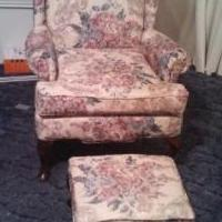 Wing Back Chair and Ottoman for sale in Madisonville TN by Garage Sale Showcase member Littlefeather, posted 01/11/2018