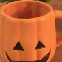 Halloween Pumpkin Mug for sale in La Porte IN by Garage Sale Showcase member 4phans, posted 09/26/2019