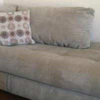 L- Sectional/ Sofa plus large ottoman for sale in Conway AR by Garage Sale Showcase member DJ Alexa 10, posted 07/24/2018