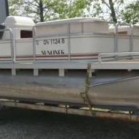 20 ft. Pontoon for sale in Marengo OH by Garage Sale Showcase member smartshopper, posted 05/21/2018