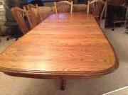 Oak Kitchen table and 4 chairs for sale in Bluffton IN