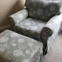 Large chair and ottoman for sale in Grayson GA by Garage Sale Showcase member pumpkin, posted 08/30/2018
