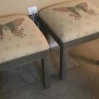 Square butterfly benches for sale in Dunedin FL by Garage Sale Showcase member Barbaraflga, posted 06/07/2018