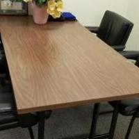 Office business desk with 4 chairs for sale in Parsippany NJ by Garage Sale Showcase member wayne.verderber, posted 07/17/2018