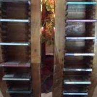 2 Wooden CD Racks, each holding 32 CD's and videos for sale in Grand Lake CO by Garage Sale Showcase member Dianne, posted 12/05/2018
