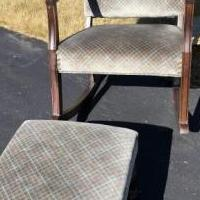 Rocking chair & matching ottomam for sale in Greenbush MI by Garage Sale Showcase member Birder, posted 07/11/2018