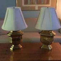 Brass lamps for sale in Hillsborough NJ by Garage Sale Showcase member Margopton23, posted 06/17/2018