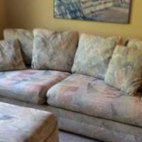 Sofa bed with matching love seat and ottoman for sale in Hillsborough NJ by Garage Sale Showcase member Margopton23, posted 06/17/2018
