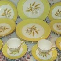 "Vintage ""Autumn Gold"" Homer Laughlin dishes for sale in Newport NC by Garage Sale Showcase member Nantiques, posted 05/22/2018"